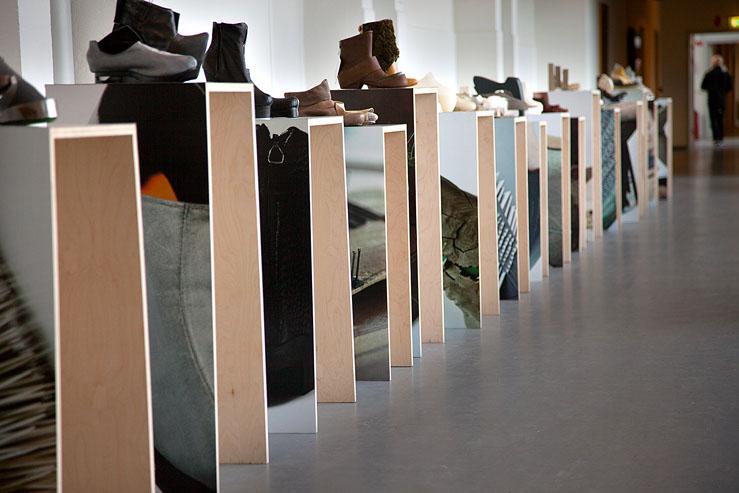 Just Add Design cases - ECCO Shoe Stories exhibition
